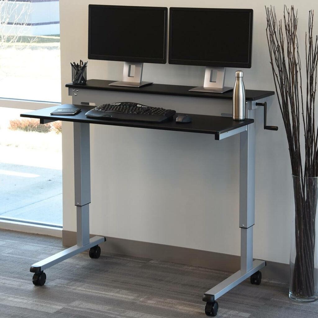 best standing desk crank amazon